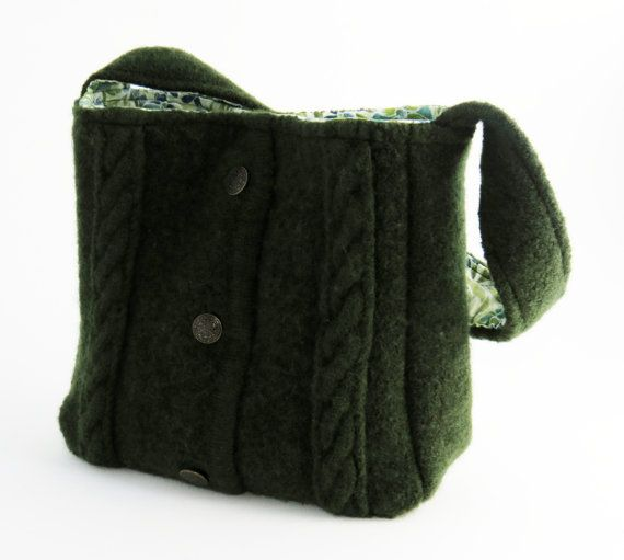 Felted Cabled Purse