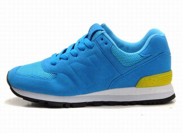 Joes New Balance 574 WS574BY royal Blue Yellow Sonic Womens Shoes