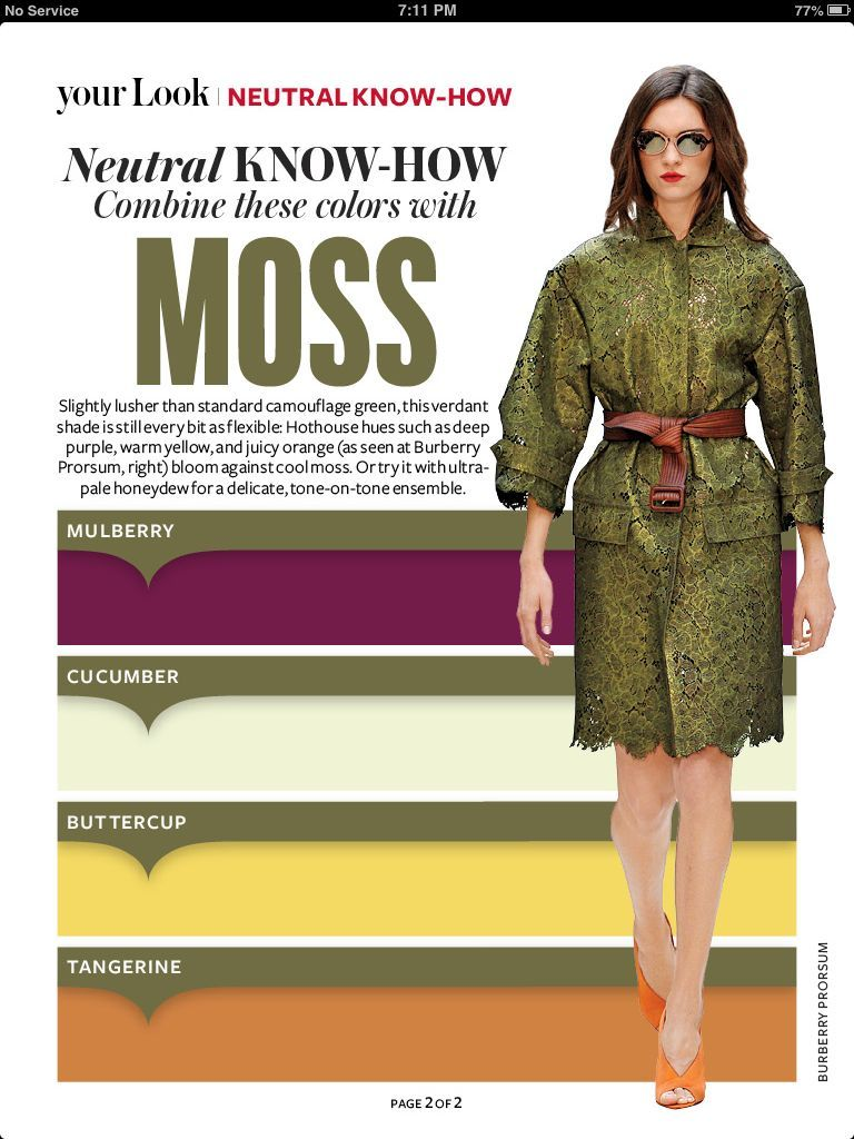 Instyle Magazine - Neutral Know How - Moss | Fashion ...