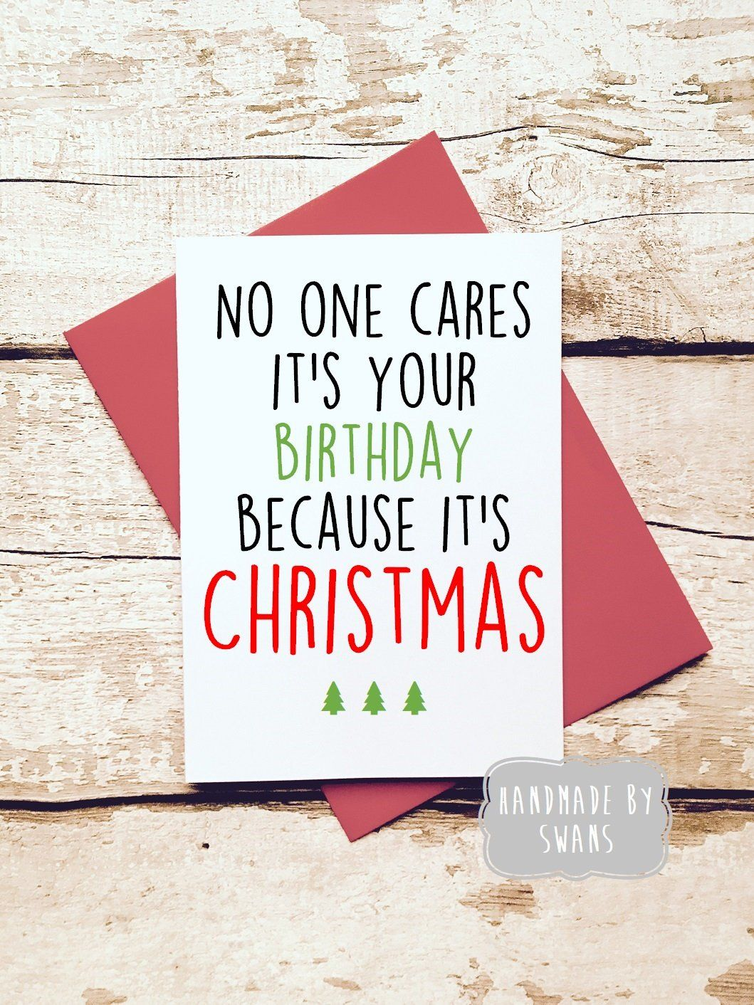 Christmas Bday Cards.Funny Christmas Card Birthday Card Christmas Card Funny December