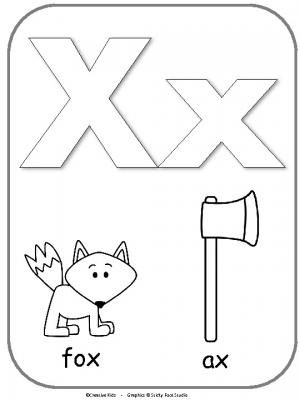 Letter X Alphabet Printable For Coloring. This is a fun