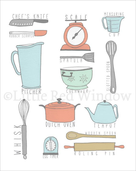 Everything But The Kitchen Sink Kitchen Tools Printable Print 8