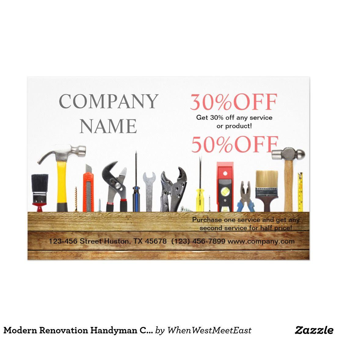 renovation tools handyman carpentry construction flyer