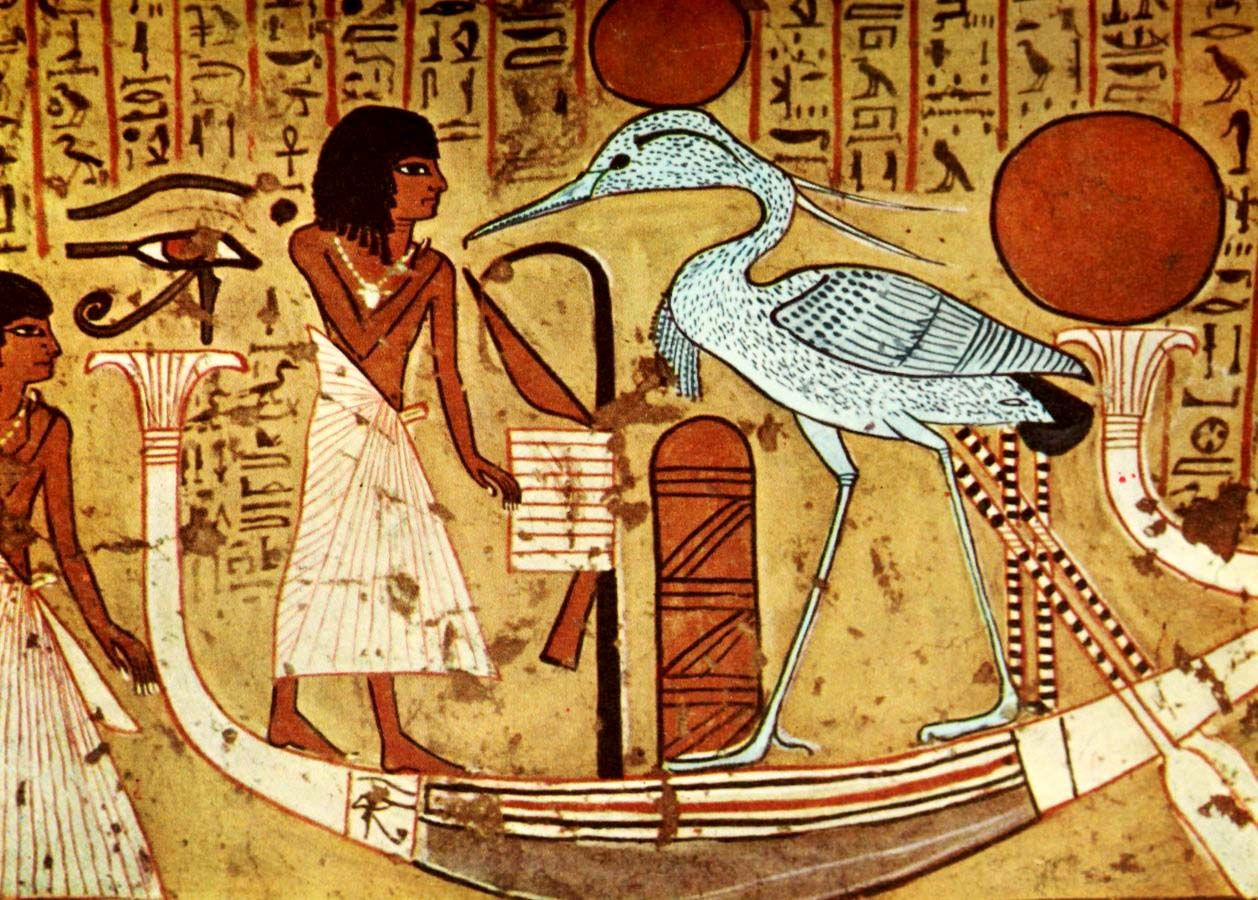 Ancient - Egyptian Wall Paintings 1956, Tomb of Irenefer. #egypt ...
