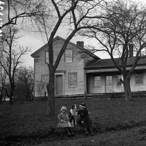 R S Steadman House Children Dog Ca 1906 History Center