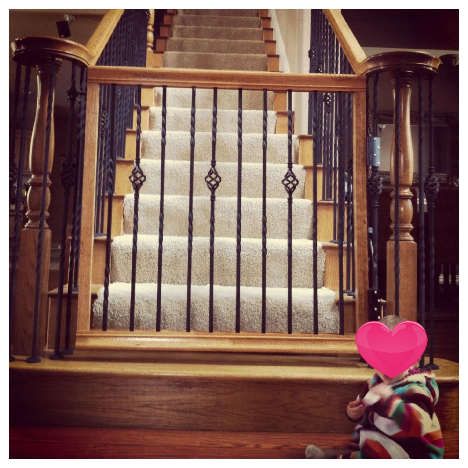 Baby gate that matches your staircase diy baby gate