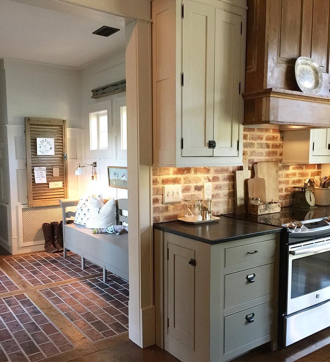 Find a wall to brick or Backsplash, floor, fireplace | Next Cottage ...
