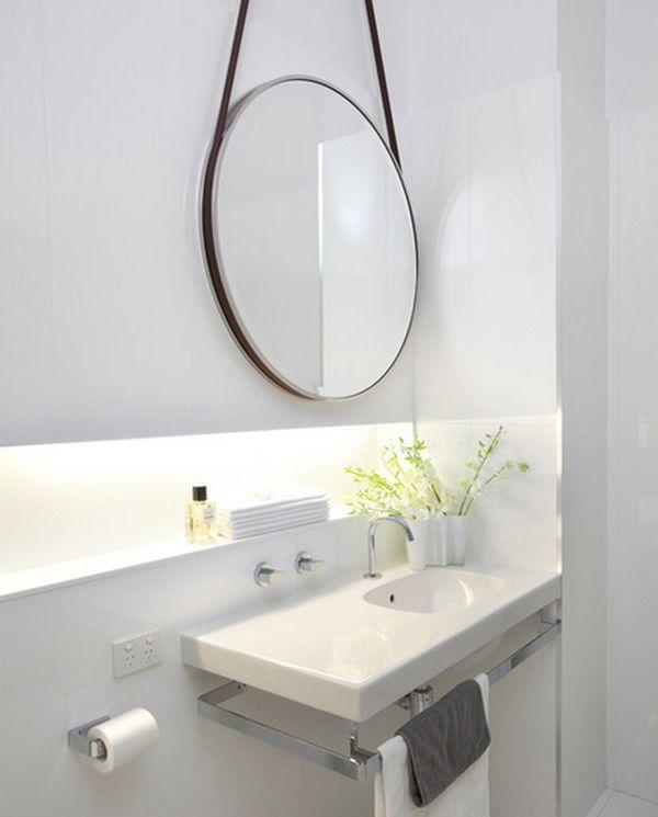 Bathroom Round Mirror Hanging