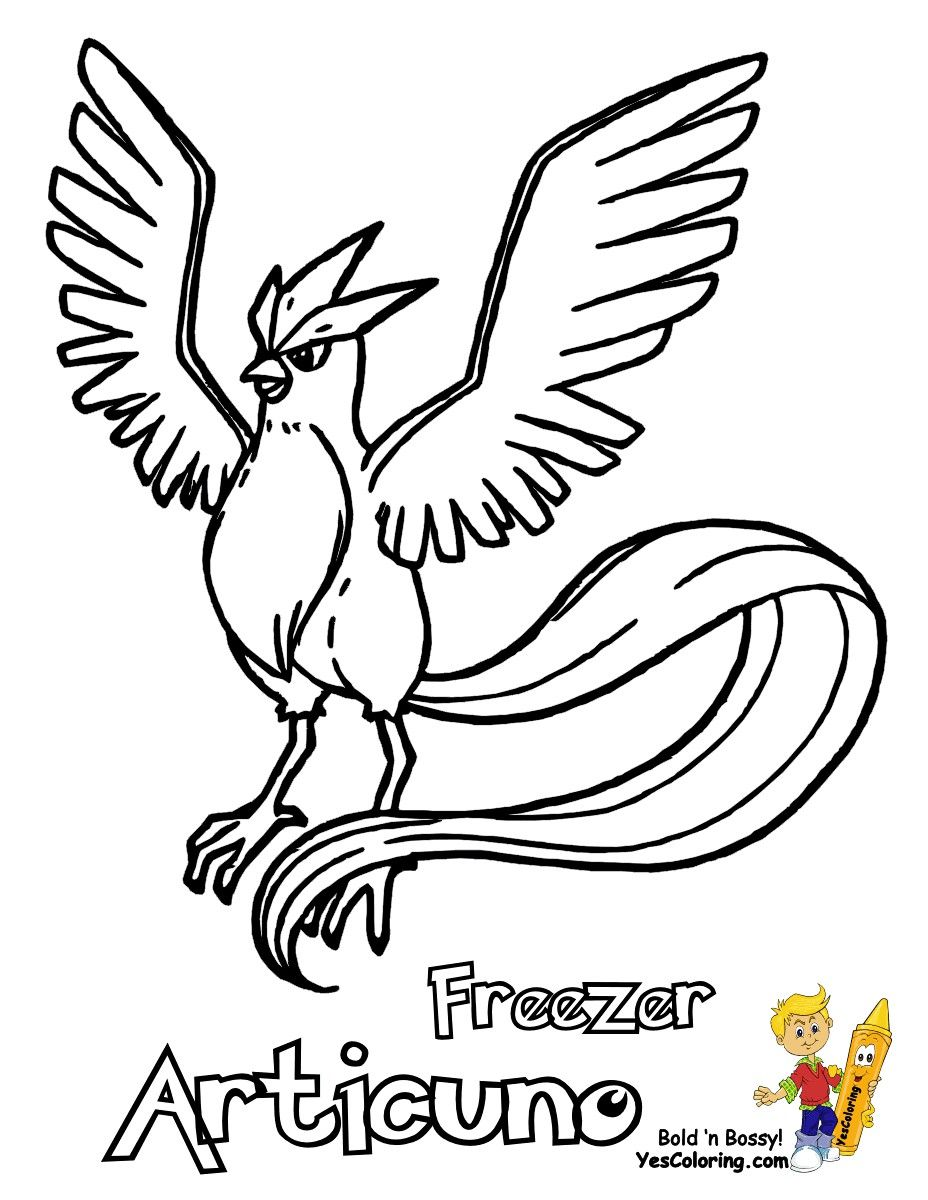 Pokemon Coloring Pages Articuno In 2020 Pokemon Coloring