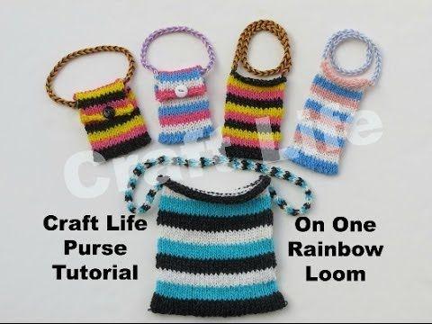 Craft Life Purse Tutorial On One Rainbow Loom Youtube Pulseras