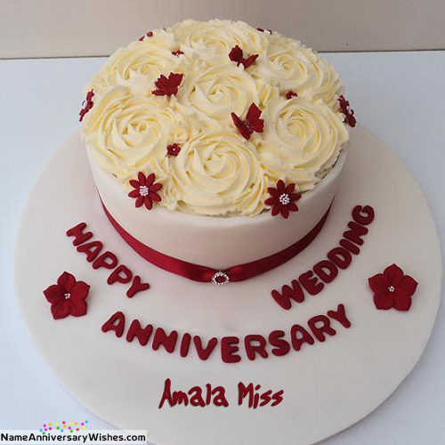 amala miss in 2020 Happy anniversary cakes, Happy