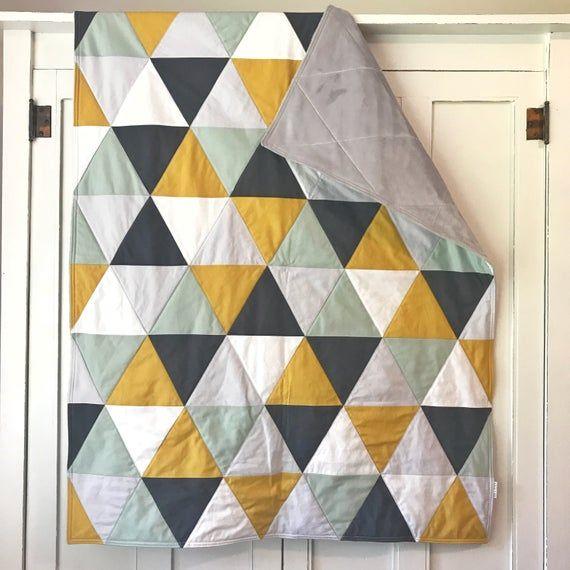 Modern Handmade Baby Quilt-Baby Quilt Handmade-Modern Baby Quilt-Crib Quilt-Nursery Quilt-Baby Quilt for Boy-Nursery Quilt Boy-