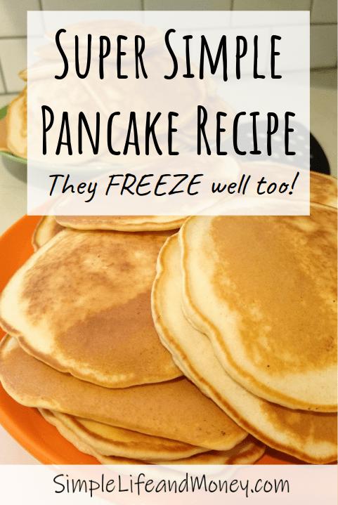 Simple Homemade Pancakes Recipe Easy Homemade Pancakes Pancake Recipe Easy Recipes
