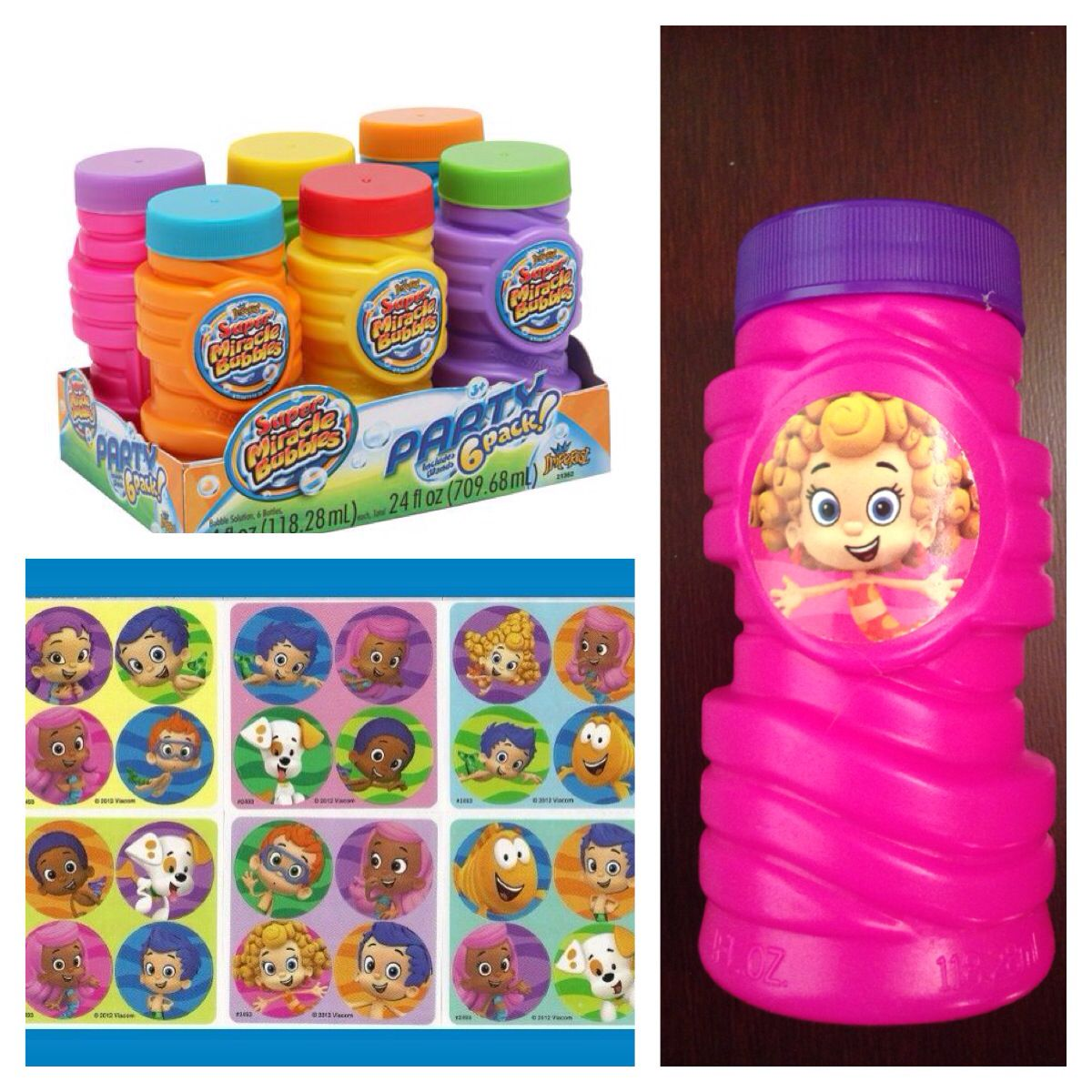Bubble guppies birthday party treat party favor using bubbles bought from family dollar and - Bubble guppies party favors ideas ...