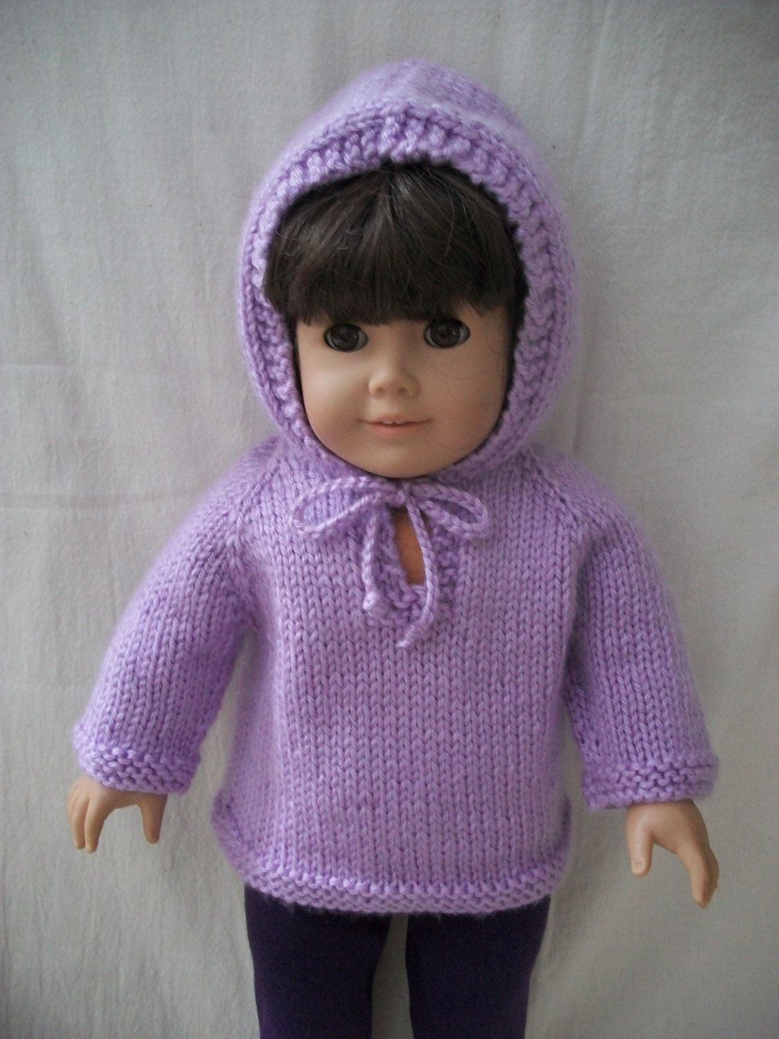 PDF Knitting Pattern for American Girl or 18\