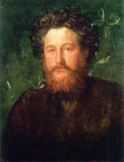 'Retrato de William Morris'.  (1870) (by George Frederic Watts).
