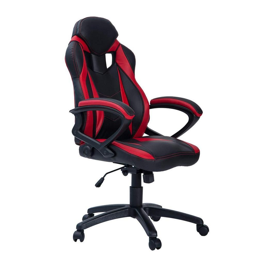 Merax Red Ergonomic Racing Style Gaming Chair For Home And Office