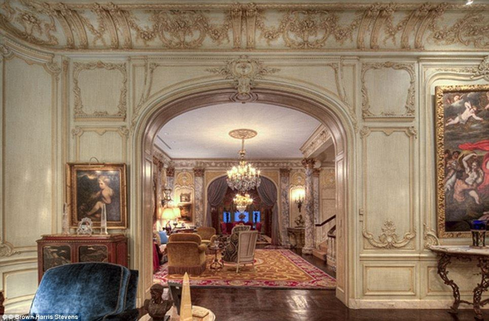 Eye-opening: The property was on the market for sale last year. With a whopping price tag of $90million (£56million), it was unsurprisingly dubbed New York's most expensive house
