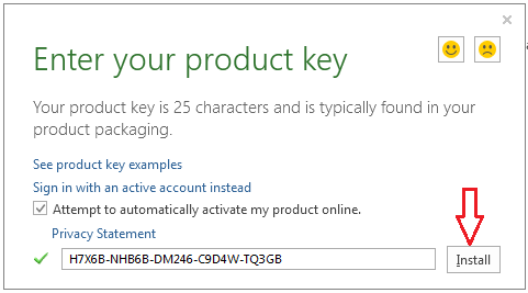 what is a product key for office 365