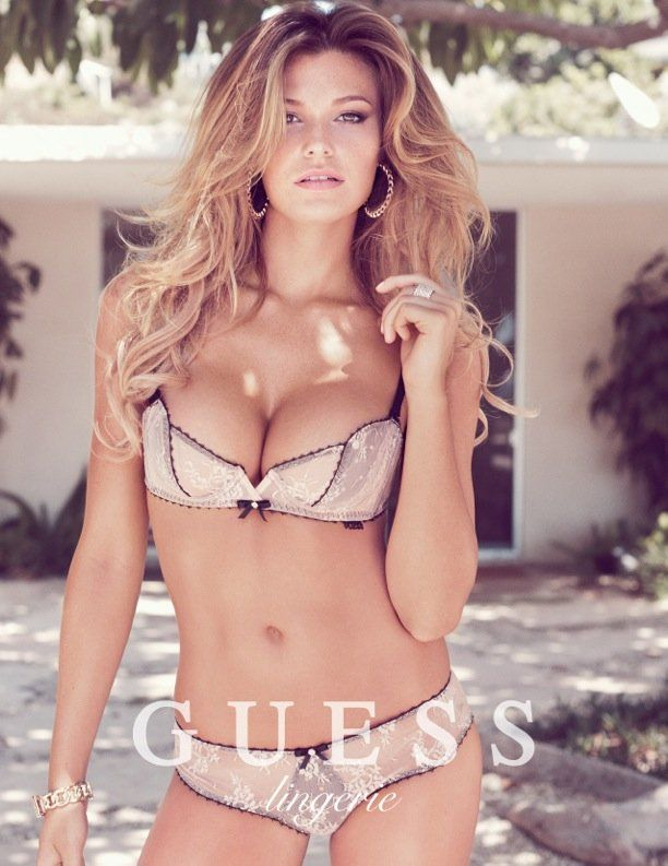 e2e4f9d6bcfd5 Samantha Hoopes Sizzles for Guess Lingerie Spring 2014 Campaign   Ad ...