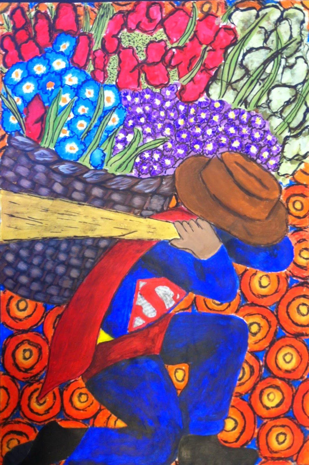 Kids Art Market Diego Rivera Lesson