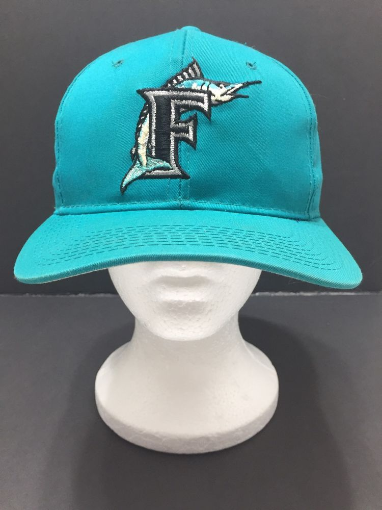 Florida Miami Marlins Retro MLB Teal Cotton Snapback Baseball Hat