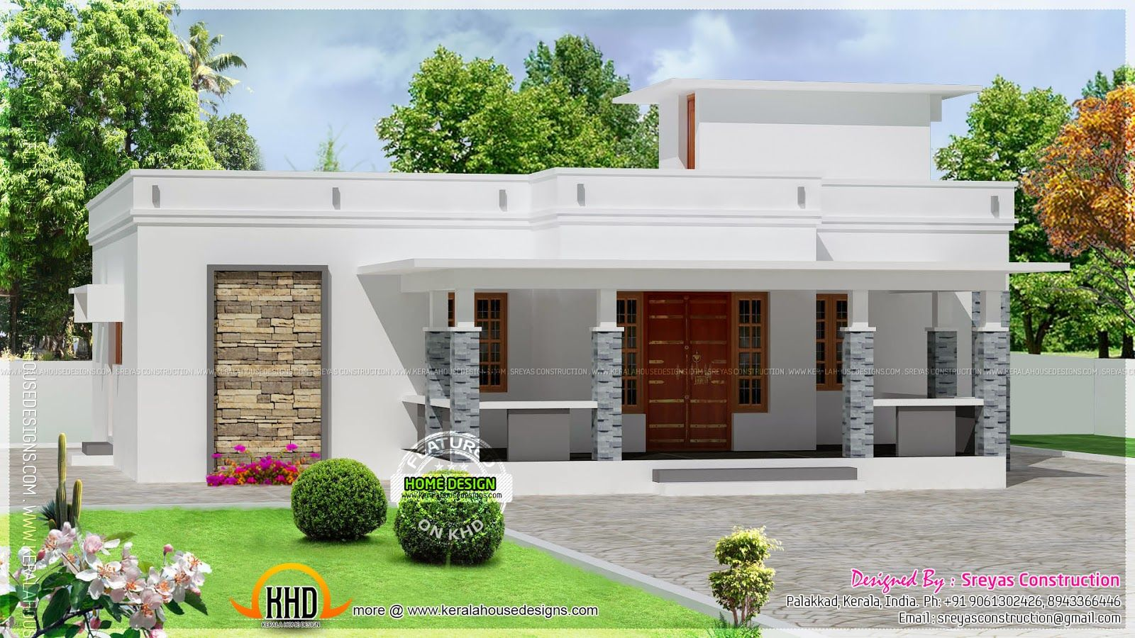 Kerala Home Design And Floor Plans 8000 Houses Small House Exteriors House Roof Design Beautiful Small Homes