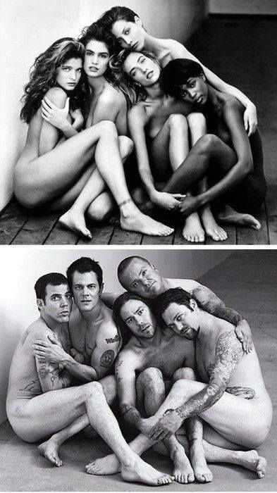 If men posed like women