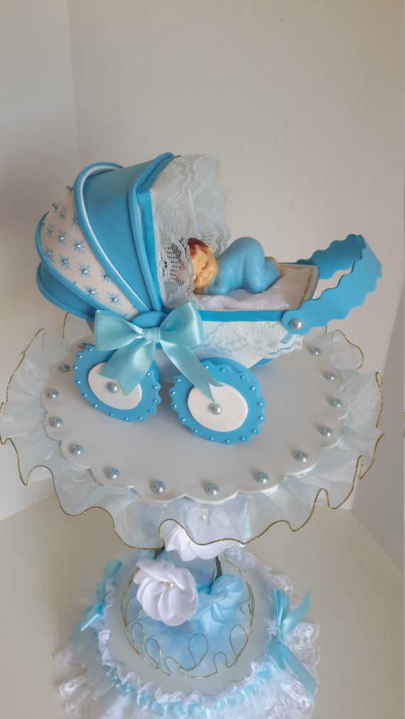 Centro de mesa de ni o beb para baby shower baby for Mesa baby shower nino
