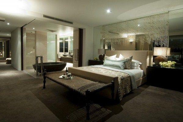 luxus schlafzimmer schwarz weiß | sciamfot, Schlafzimmer ideen