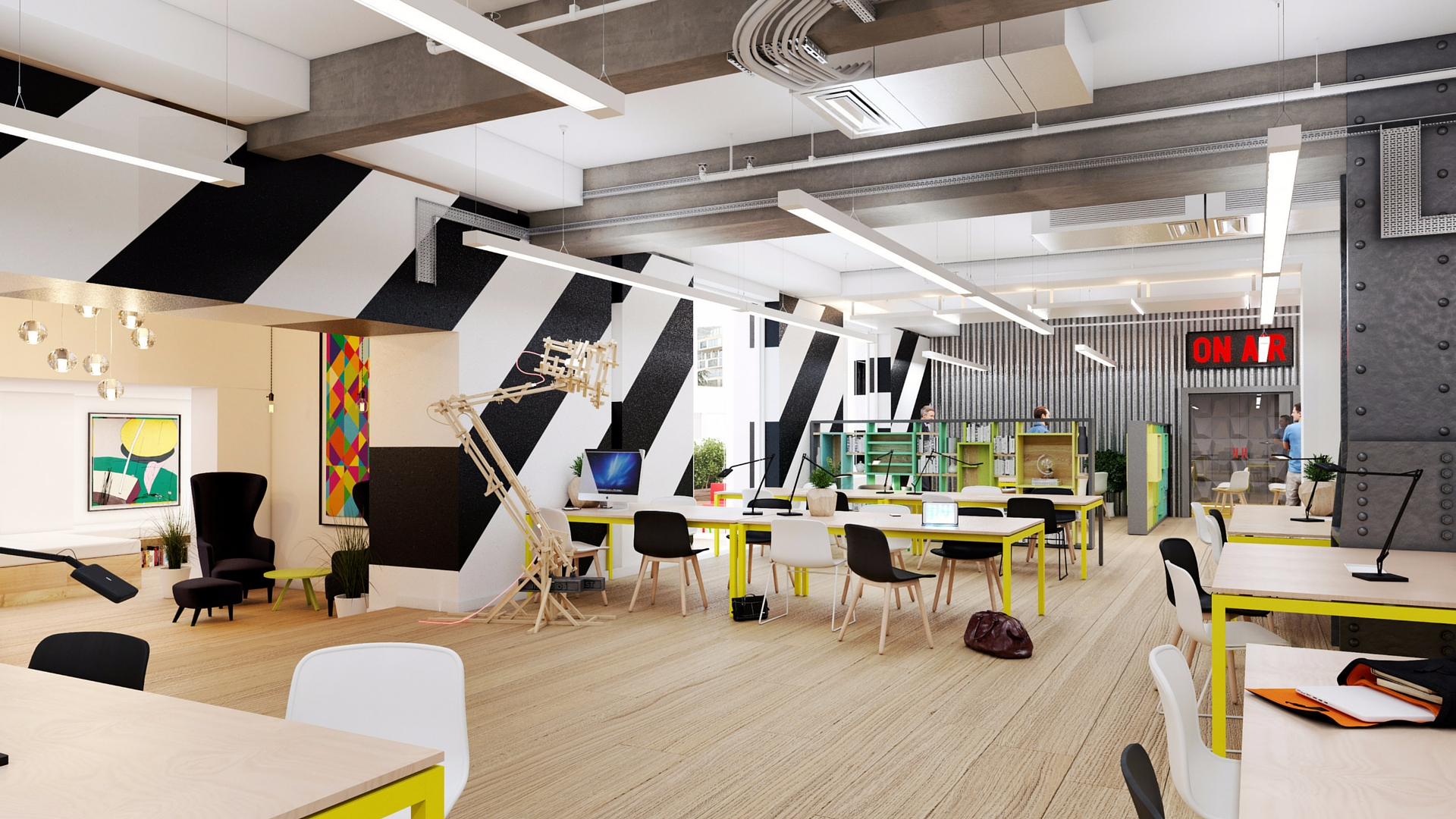 Huckletree shoreditch offices startups innovation Coworking space design ideas