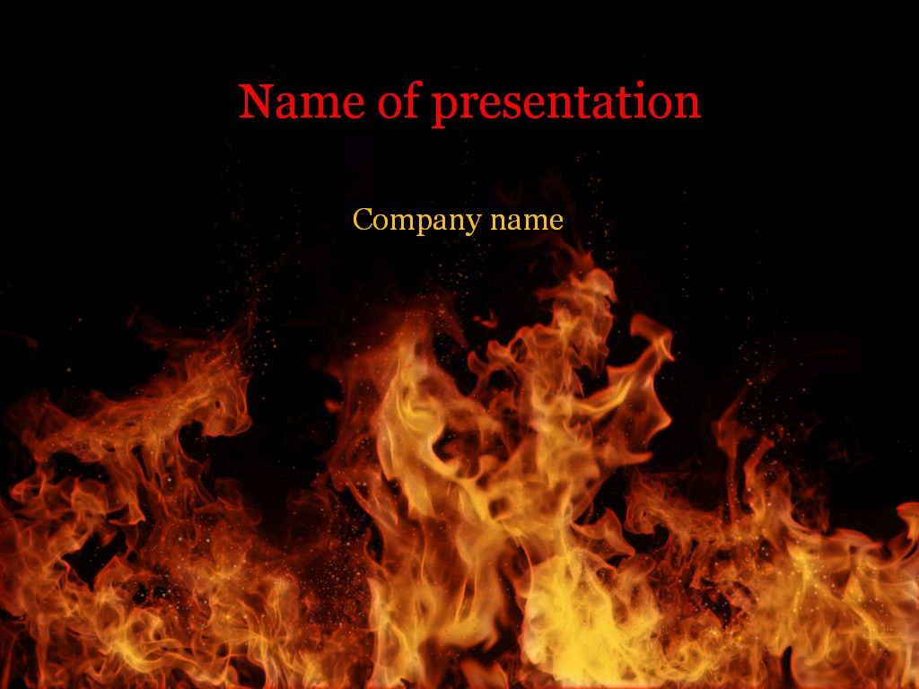 Fire Flames Powerpoint Template Templates Fire Presentation