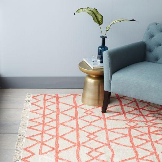 Torres Wool Kilim, 2'x3', Guava