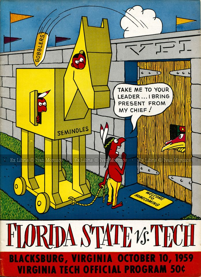 1959.10.10. Florida State University (Seminoles) at