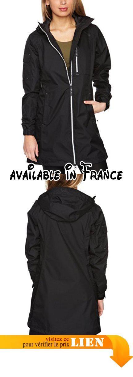 Helly Hansen W LONG BELFAST JACKET Veste de pluie femme Femme black FR : M (Taille Fabricant : M) 47Bxp