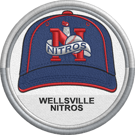 Wellsville Nitros Baseball Cap Hat Uniform Sports Logo New York Collegiate Baseball League Minor Minor League Baseball Baseball League Sports Logo