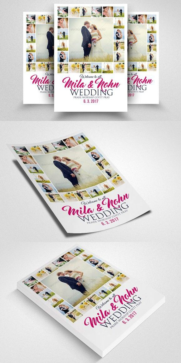 Elegant Wedding Flyer Template Romantic Flyers And Fonts