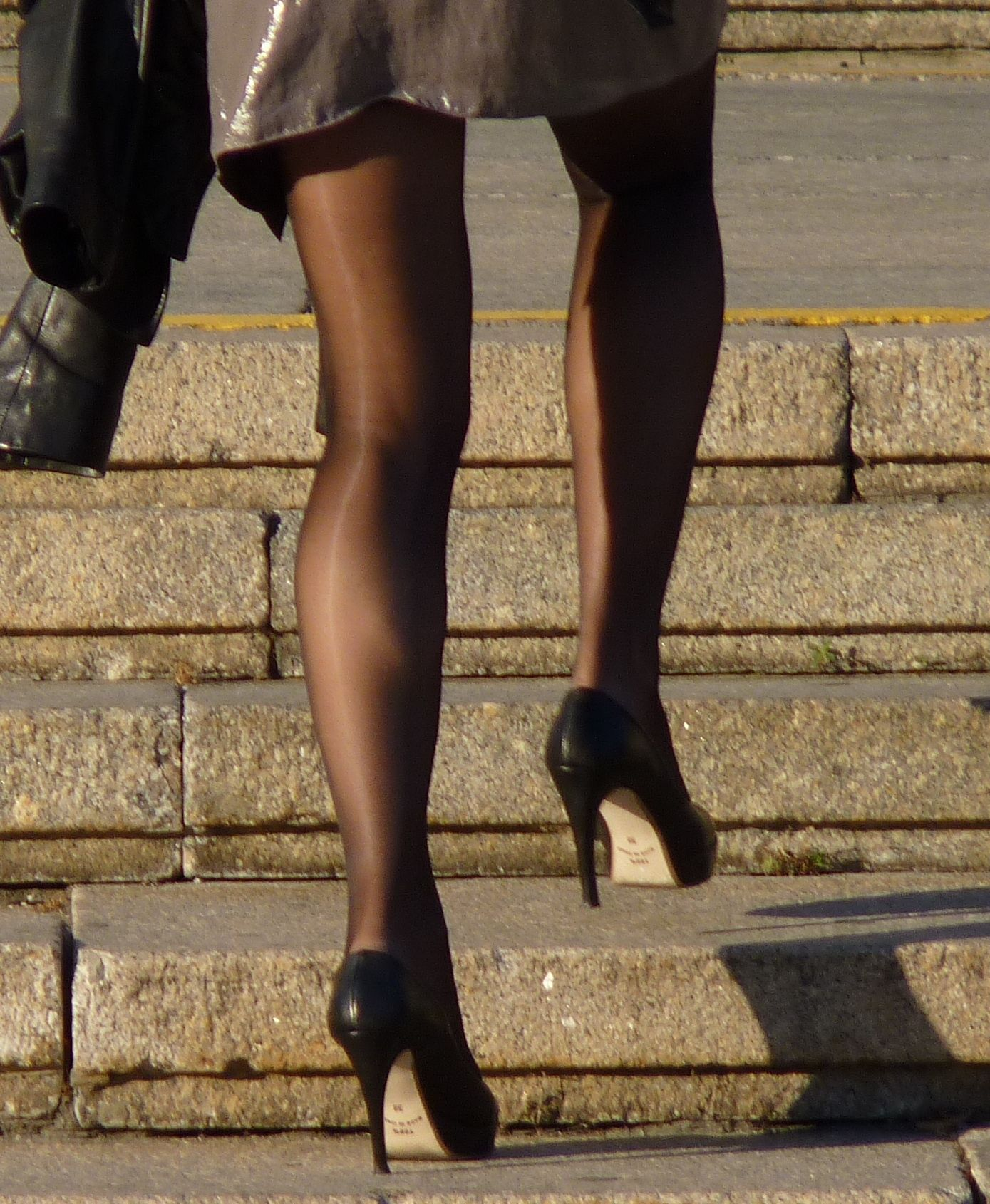 wearing Wife pantyhose stopped