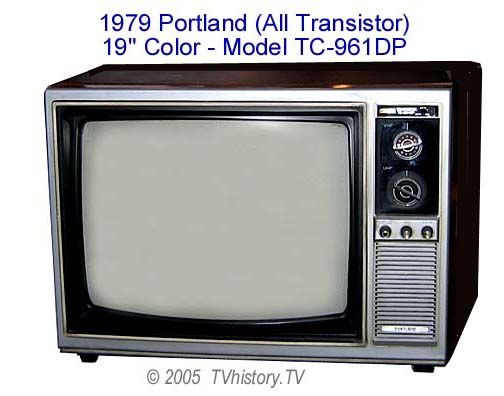 Another Revolutionary Design Was This Transistorized Television