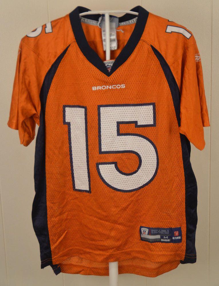 Reebok Denver Broncos Jersey  15 Tim Tebow NFL Jersey Youth Medium (10-12)  Blue  Reebok  DenverBroncos af7aba66c