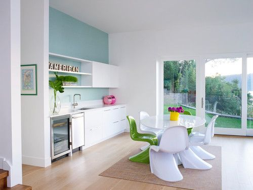 Colorful Dobbs Ferry Westchester Modern Rustic Home Tour Dining
