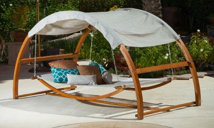 Rosalie Outdoor Swing Bed And Canopy Outdoor Bed Swing Outdoor Patio Chaise Lounge Modern Outdoor Patio