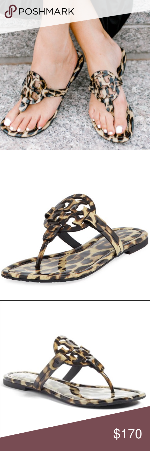 tory burch miller leopard sandals sale