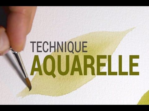 Technique D Aquarelle Originale Utiliser Le Cordon D Eau