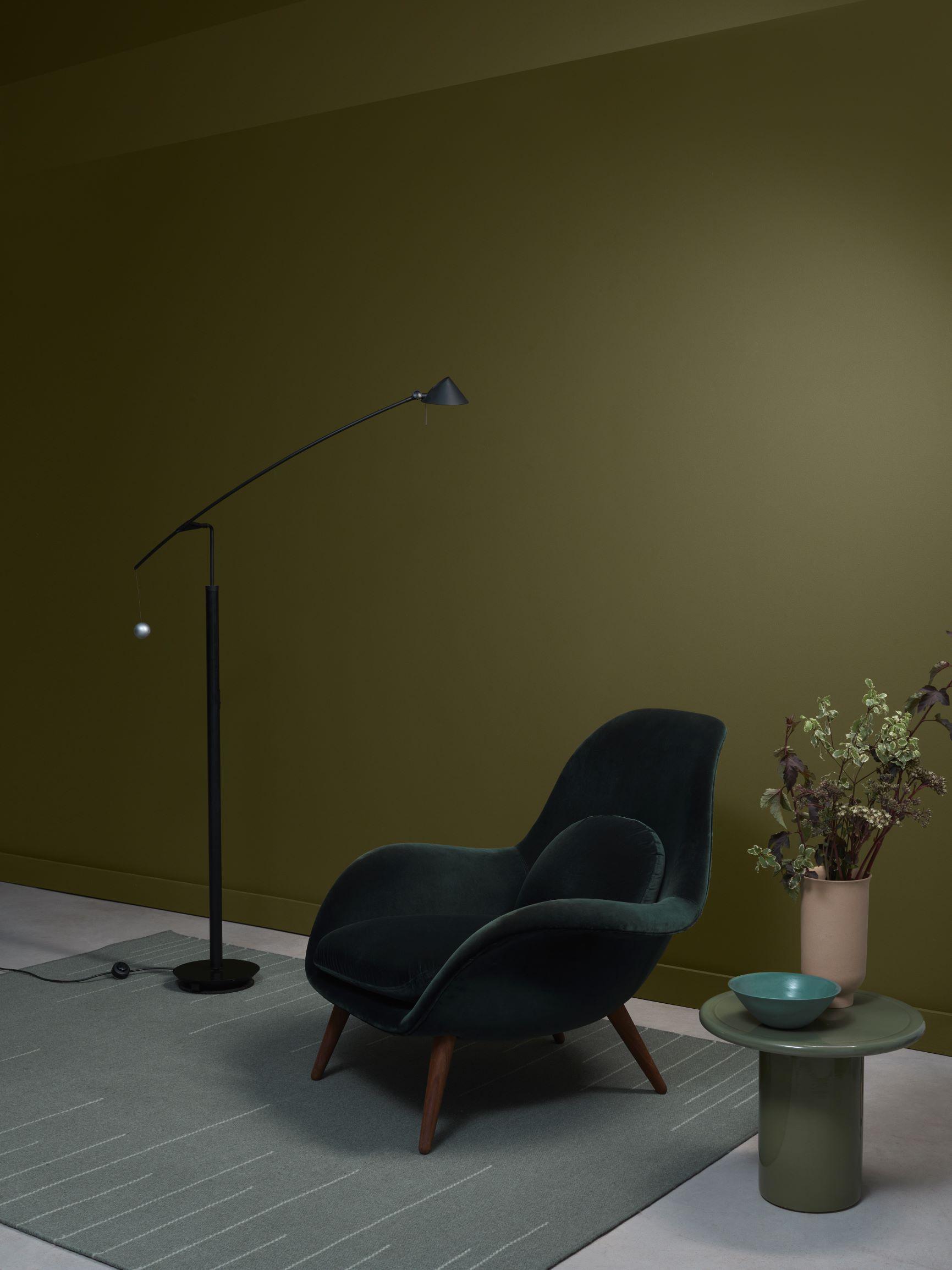 Forest vista in 2020 elle decor crown paints green sofa