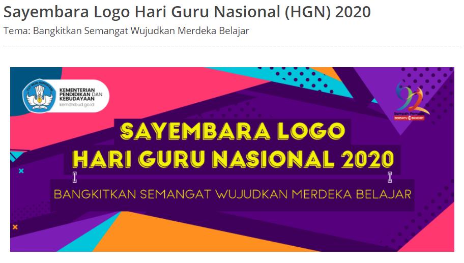 Lomba Berhadiah 10 Juta Laptop Membuat Logo Sesuai Tema Hari Guru Nasional Guru Hadiah Laptop
