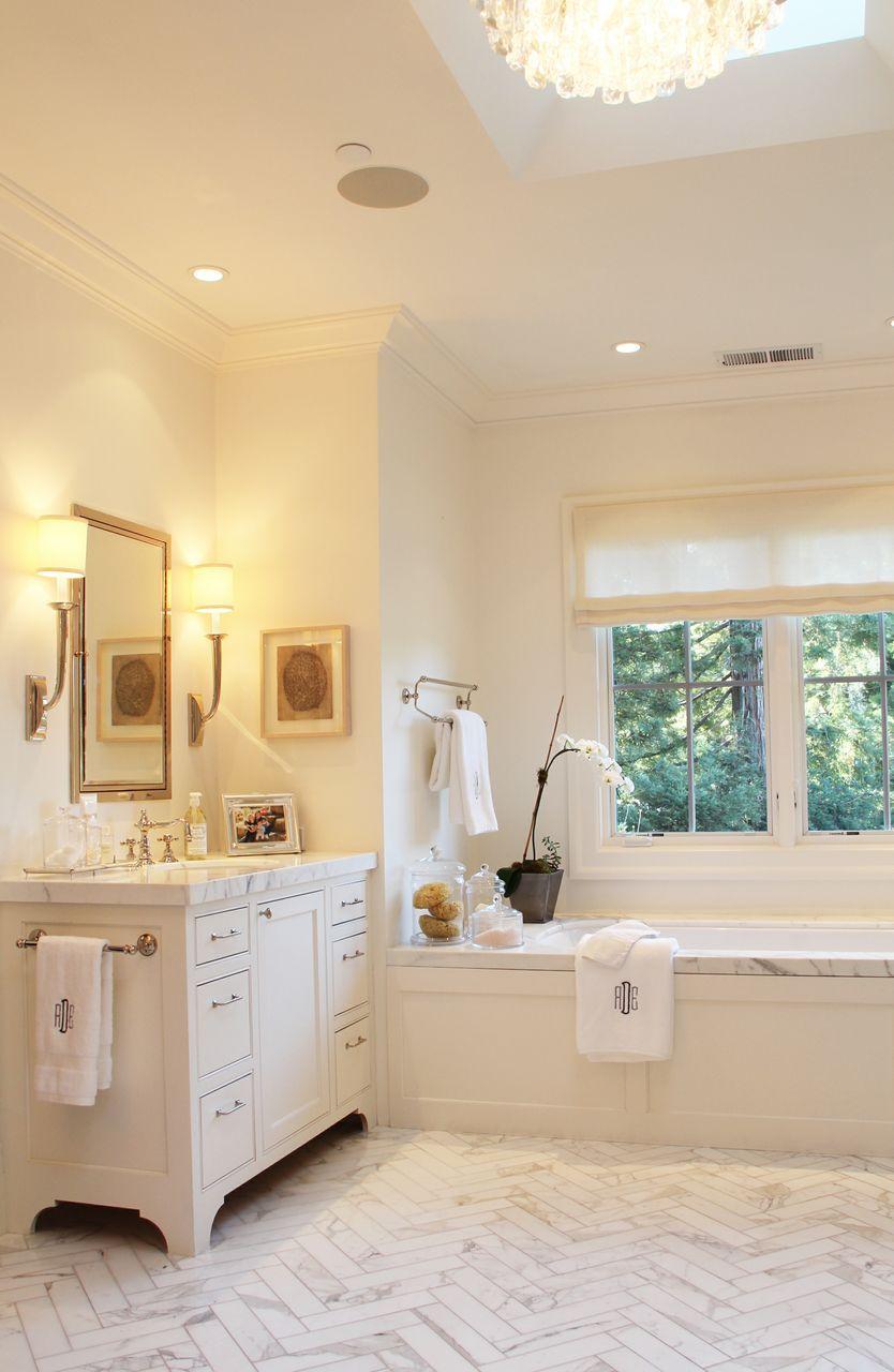Beautiful Bathroom Using Marble Bathroom Vanities Pinterest Herringbone Tile Herringbone