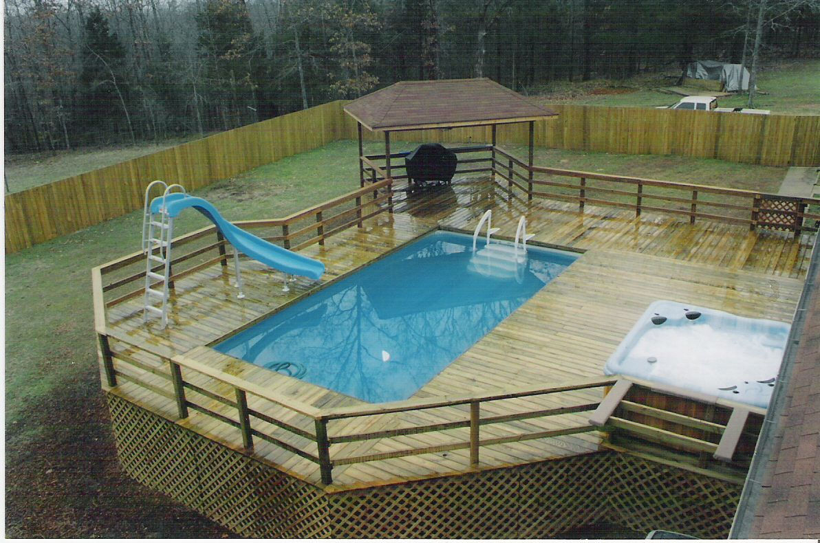 Above Ground Pool And Deck Packages Posted In Portable
