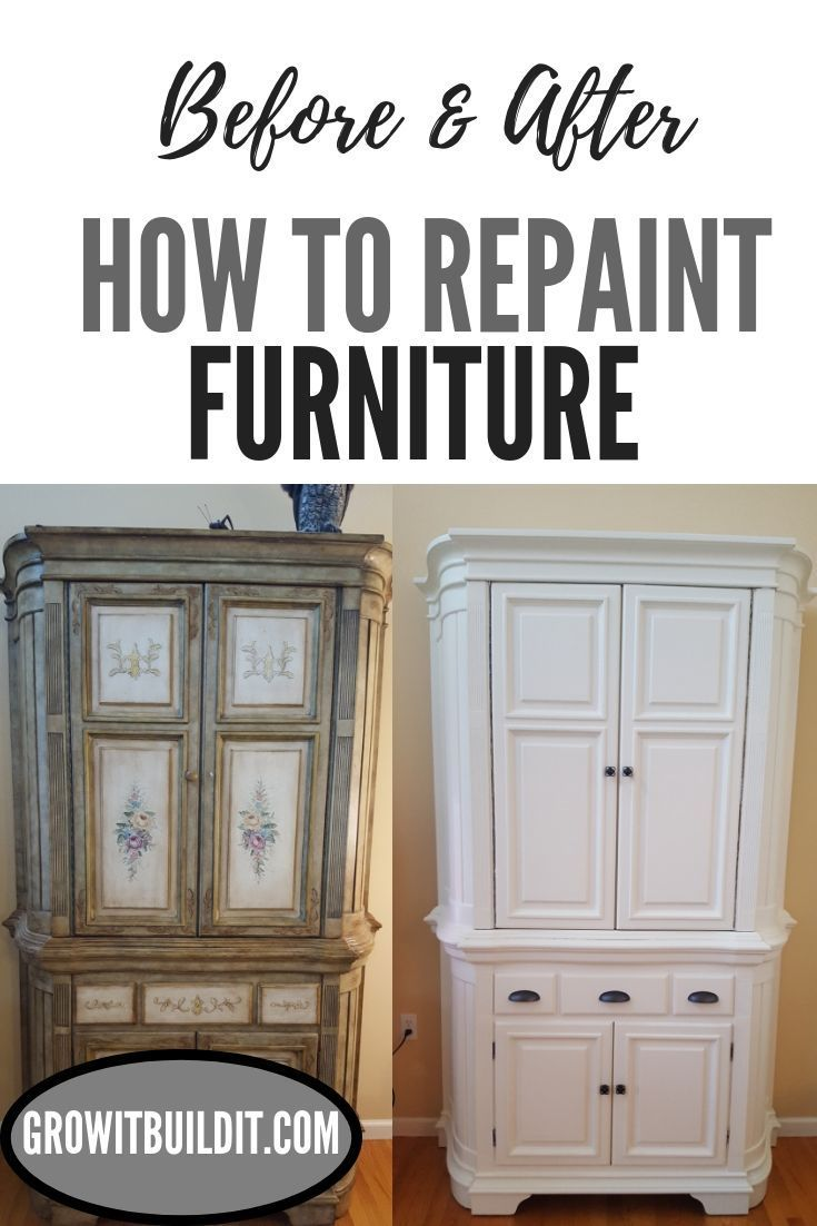 DIY- How to Repaint Furniture- Before & After | Growit Buildit