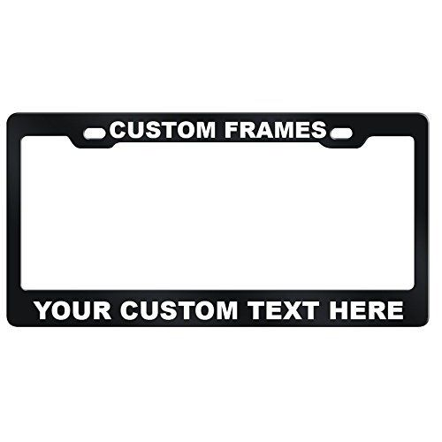 Customized License Plate Frames Laser Engraved | Car seats/Auto ...